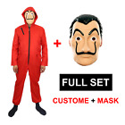 Paper House La Casa De Papel Salvador Dali Face Costume Jumpsuits Mask US Seller