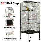 Multi-Size Large Bird Cage Play Top Parrot Finch Cage Macaw Cockatoo Pet House