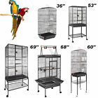 36''/60'Large Bird Cage Play Top Parrot Finch Cage Macaw Cockatoo Pet House