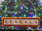 Cincinnati Bengals Christmas Ornament Scrabble Tiles Magnet Rear View Mirror on eBay