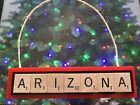 Arizona Coyotes Yotes Christmas Ornament Scrabble Tiles Magnet Rear View Mirror $8.99 USD on eBay