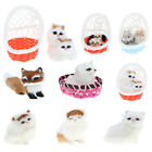 Simulation Plush Animal Model Toy Basket Pet Husky Fox Home & Fairy Garden Décor