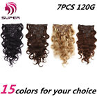 Brazilian Body Wave Clip in Remy 100% Human Hair Extensions Clip ins 7pcs 120g