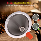 Coffee Filter Stainless Steel Pour Over Double Metal Filter Mesh Dripper Cone QS