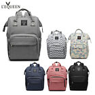 LEQUEEN Mummy Nappy Diaper Bag Baby Changing Backpack Large Capacity Fashion US