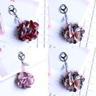 Korea Style Key Chain Women Camellia Flowers Pendant Keyfob Decorate 4 Colour