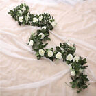 Artificial Rose Garland Silk Florals Fake Vine Ivy Wedding Party String Hang CHH