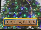Milwaukee Brewers Christmas Ornament Scrabble Tiles Rear View Mirror Magnet on Ebay