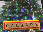 Calgary Flames Christmas Ornament Scrabble Tiles Rear View Mirror Magnet $8.99 USD on eBay