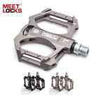 """Bike Pedals, Aluminum Body, Cr-Mo CNC 9/16"""" Spindle,3 Sealed Bearings forMTB BMX"""