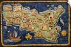 Wall Decal entitled Ceramic map of Sicily