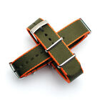 Seat Belt Nylon NATO Strap : Choice of 10 Colours : Steel Buckle : 20mm or 22mm