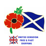 More images of 100% UK Stock Scotland St Andrews Flag Army Red Poppy Enamel Pin Badge Brooch