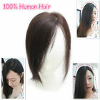 "Us Stock 10"" Real Human Hair Top Pieces Clip in Toppers for Women Thinning Hair"