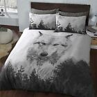 Jungle Wolf 3D Animal print Duvet Cover Bedding with Pillowcase Set All Sizes