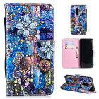 For Samsung Galaxy S9 Plus/S8/S7/S6 Pattern Flip Magnetic PU Leather Case Cover