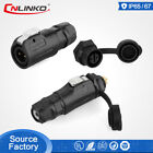 M12 2Pin IP67 Waterpoof PBT Plastic Industrial AC DC Connector For Marine System