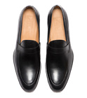 Pair Of Kings Shoes Men's The Flush Black Leather Formal Dress Shoes Loafer