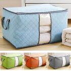 Внешний вид - 1 Clothes Blanket Bamboo Organizer Storage Bag Charcoal Foldable Zipper Box US