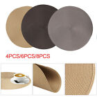 New Jacquard Weaved Non Slip Placemats Dining Table Mats Set of 4 6 8