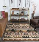 Tayse Nature Wilderness Rustic Country Bear Southwest Cabin Rug NTR7201