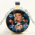 Elvis Presley Cabochon Silver/Bronze/Black/Gold Chain Pendant Necklace #7377