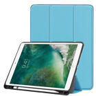 Ultra thin PU Leather Smart Cover Case with Pencil Tray Holder For iPad Pro 10.5