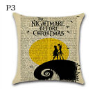 Nightmare Before Christmas Halloween Cotton Linen Pillow Case Cushion Cover HI