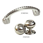 Knob & Pull Kitchen Cabinet Hardware w/ Back-Plate in Brush Nickel ST3638 by KPT