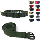 Внешний вид - Casaba Canvas Belts Double Row 2 Holes Grommet Fabric Military Mens Women Unisex