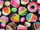 Colorful Cupcakes Fabric Timeless Treasures Sewing Quilting Cotton BTHY BTY