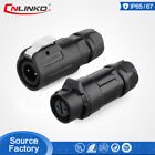 CNLinko M12 2 Pin Waterproof Electrical Power Connector Cable Plastic Male Plug