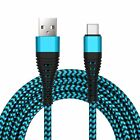 US 3/6/9ft USB Type C Braided Cable 2A Fast Charging Cord For Samsung S8 S9 Plus
