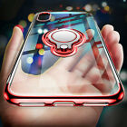 Car Ring Stand Holder Transparent Clear Case Cover for iPhon