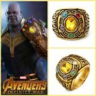 Thanos Infinity Gauntlet Ring Power War Avengers Cosplay Jewelry Stone 8 -12 Us!