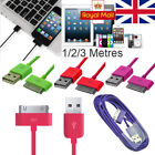 1/2/3m Usb Data Sync Charger Cable Lead For Iphone 4 4s 3g Ipad 3 2 Ipod Nano Uk