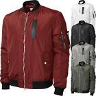 Mens Bomber Jacket Premium Multi Pocket Water Resistant Padded Zip Up Flight