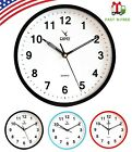 Camy 9 Inch Round Wall Clock Quality Quartz Battery Operated/Home Decor/Office