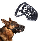 adjustable basket mouth muzzle cover for dog training bark bite chew control Sz