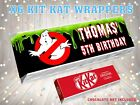PERSONALISED GHOST BUSTERS Kit Kat Label / Wrapper Ideal Party Bag Filler