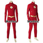 The Flash 5 Barry Allen Cosplay Superhero Costume Outfits Halloween Leather Suit