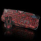 Wired LED Gaming 2.4G keyboard and 3200DPI Mouse Computer Multimedia Gamer