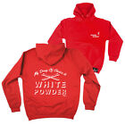 FB Skiing Snowboarding Hoodie - White Powder - Novelty Birthday Hoody Jumper