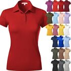 Внешний вид - WOMENS POLO Shirts Premium Soft Short Sleeve Casual Uniform Extra Slim Fit Tee