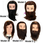 """Barber Doll Head 12""""/14'' Hair Hairdressing Training Man Mannequin + Clamp"""