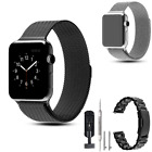 Stainless Steel Magnetic Watch Band Wrist Strap Bracelet fr Apple iPhone 38/42mm