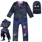 Fortnite Raven Costume Halloween Dress Boys / Girls Fancy Party Cosplay Raven