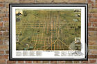 Old Map of Lima, OH from 1892 - Vintage Ohio Art, Historic Decor