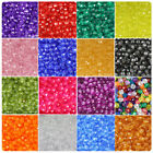 BeadTin Transparent 8mm Faceted Round Craft Beads 450pcs - Color choice