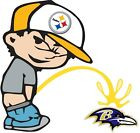 Pittsburgh Steelers Piss On Baltimore Ravens NFL Color Vinyl Decal CHOOSE SIZES $15.99 USD on eBay